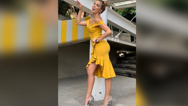 FOTO: Andrea Escalona impone estilo en el programa 'Hoy' y enamora los pasillos de Televisa