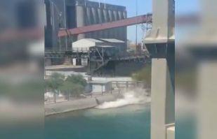 (VIDEO) Se registra explosión de tubería de ácido sulfúrico en Guaymas