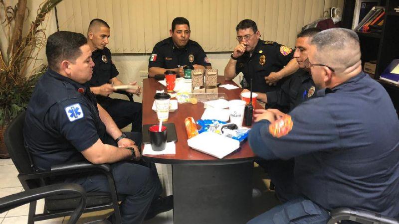 Bomberos del sur de Sonora sostienen reunión para coordinarse