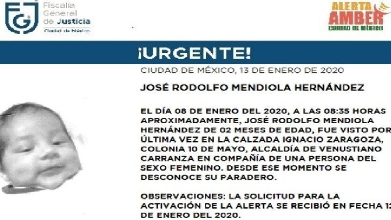 ¡Urgente! Desaparece José Rodolfo, bebé de 2 meses de nacido en la CDMX