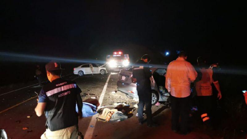 Fatídico choque deja a una mujer sin vida y a 4 heridos, entre ellos una bebé