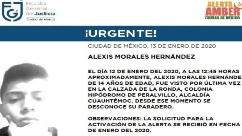Ayuda a encontrar a Alexis Morales, de 14 años; tiene acné junto a la boca