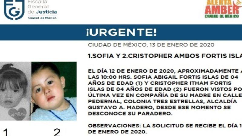 ¡Urgente! CDMX inicia la búsqueda de los gemelos Fortis Islas, de 4 años
