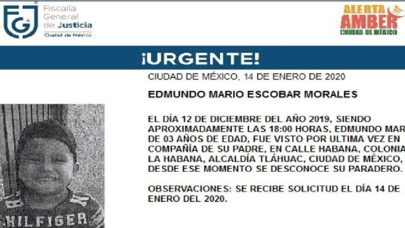 A más de un mes de su desaparición, se inicia búsqueda de Edmundo, de 3 años