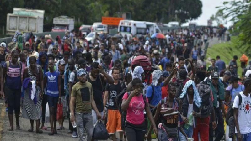 Nueva caravana de migrantes arriba a la frontera de México; serían más de 3 mil