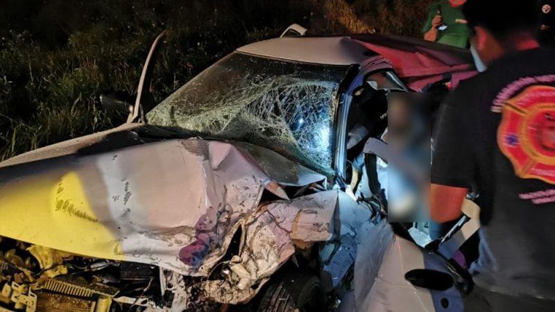 Trágico choque frontal deja un herido en Sinaloa; iban a exceso de velocidad