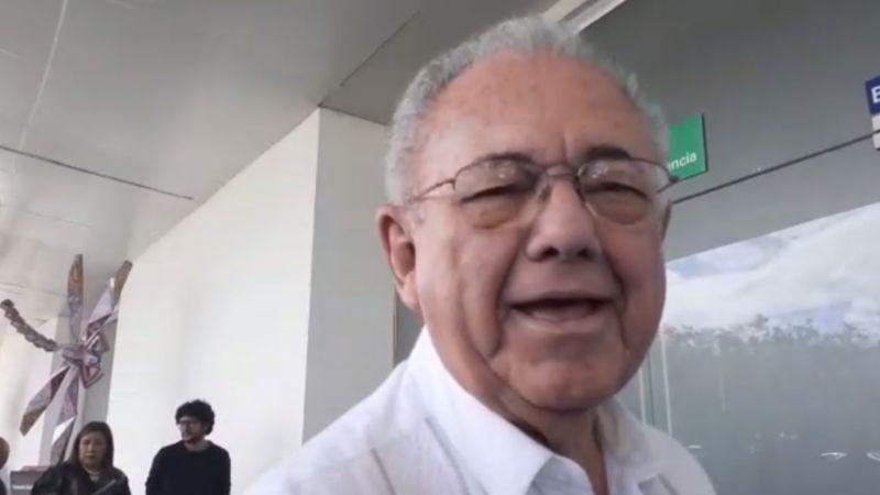 VIDEO: Así reacciona Jiménez Espriú al saber de la rifa del avión presidencial