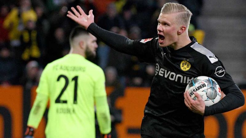 Erling Haaland y su debut soñado: Hat-trick y victoria para Borussia Dortmund