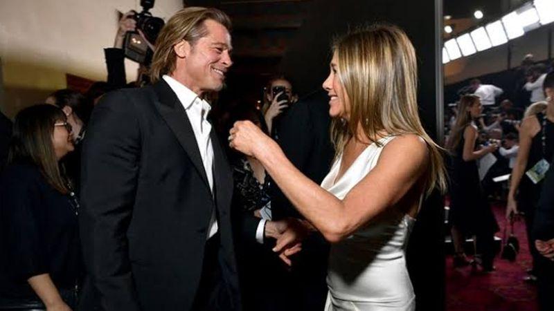 Brad Pitt se queda atónito con discurso de Jennifer Aniston en los SAG Awards