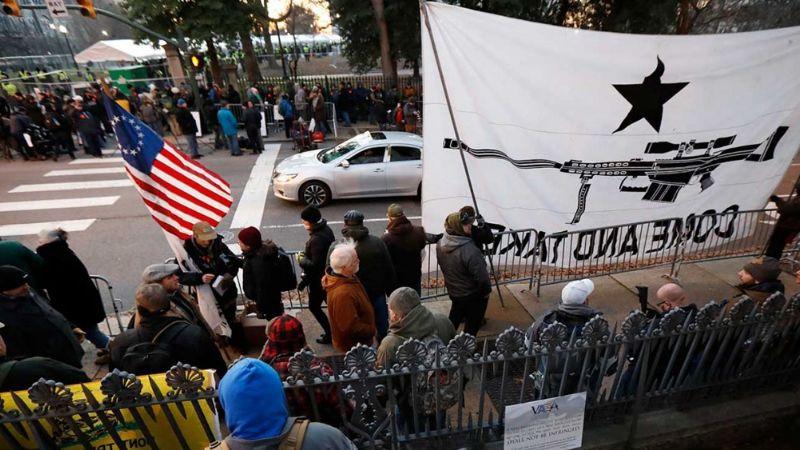 FOTOS: Bajo máxima tensión, inicia mitin a favor de armas en EU