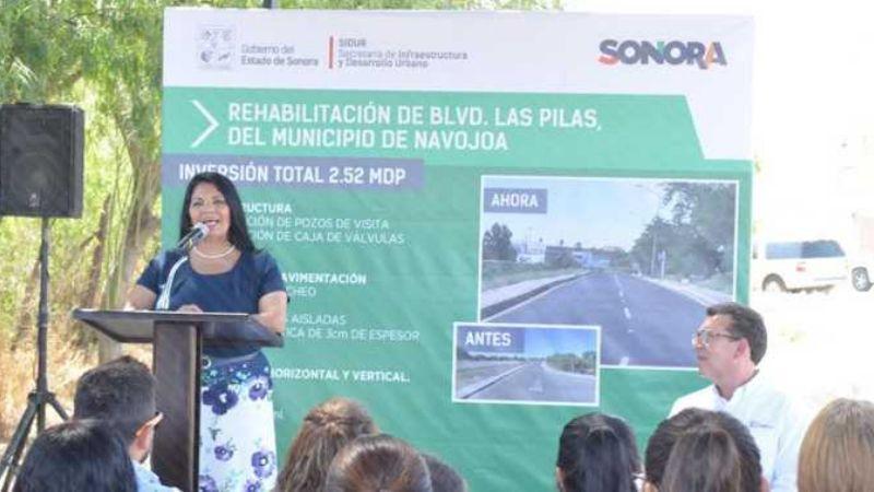 Alcaldesa de Navojoa acusa al Gobierno del Estado de afectar su administración