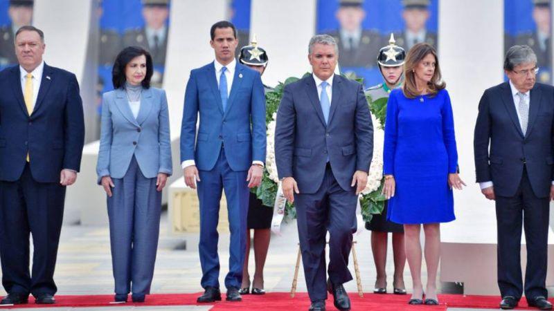 Mike Pompeo respalda la lucha de Guaidó tras su reunión en Colombia