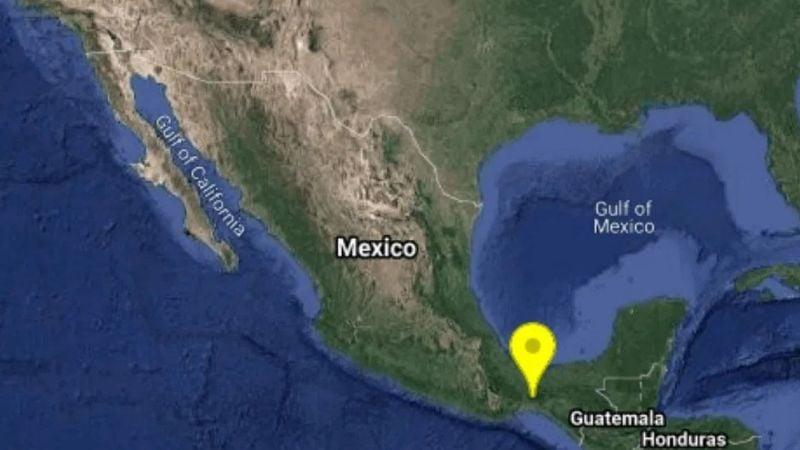 Sismo magnitud 4.8 sacude Oaxaca, al este de Matías Romero