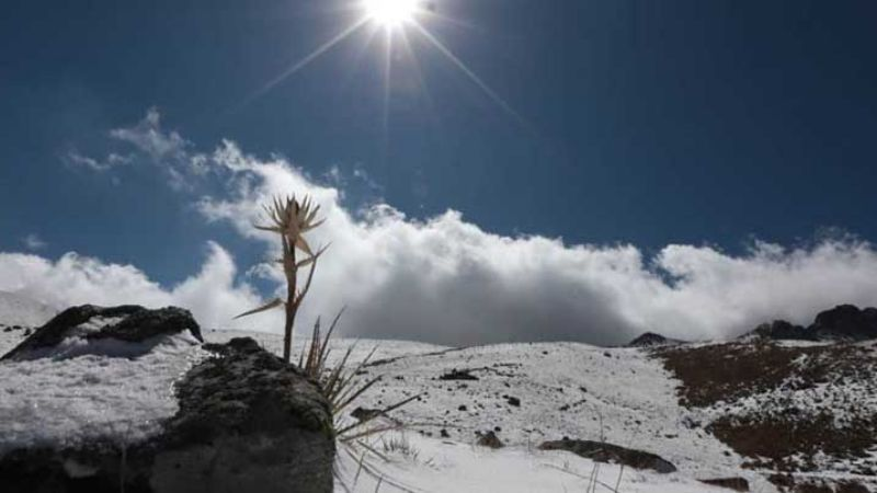FOTOS: Nevado de Toluca recibe espectacular primer nevada del 2020