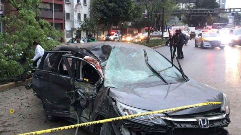 VIDEO: Una mujer muerta y dos heridas por choque a alta velocidad en CDMX
