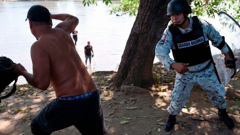ONU solicita a México evitar las detenciones violentas de migrantes