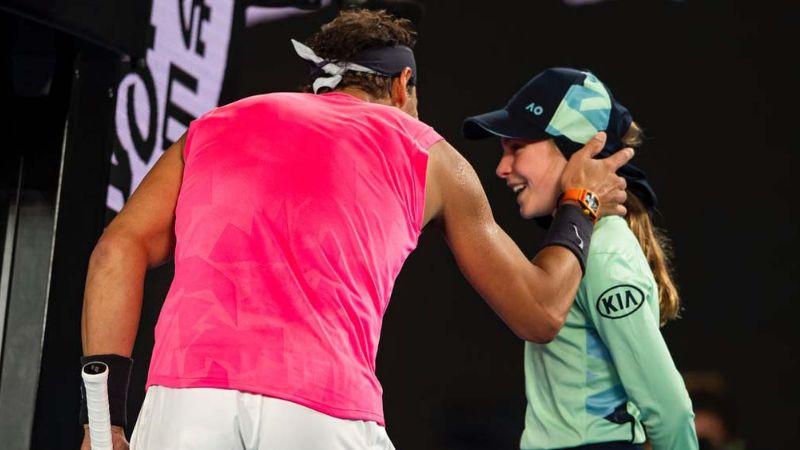Rafael Nadal pide perdón a niña por darle un pelotazo durante un partido