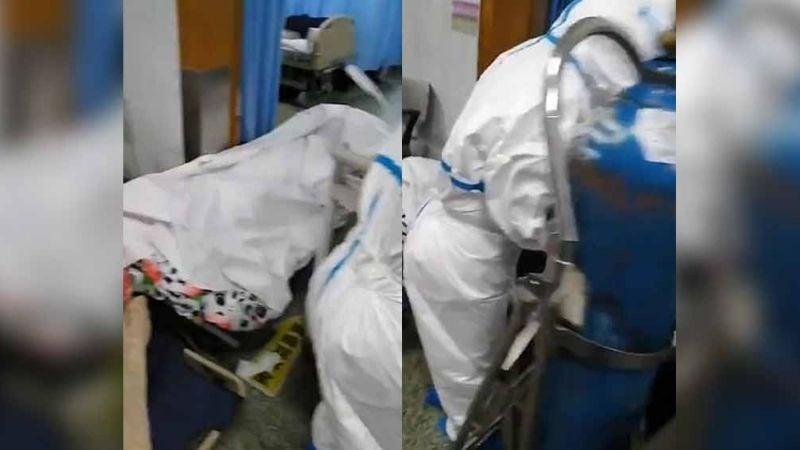 Coronavirus: Señalan 'crisis higiénica' en video de cuerpos en piso de hospital
