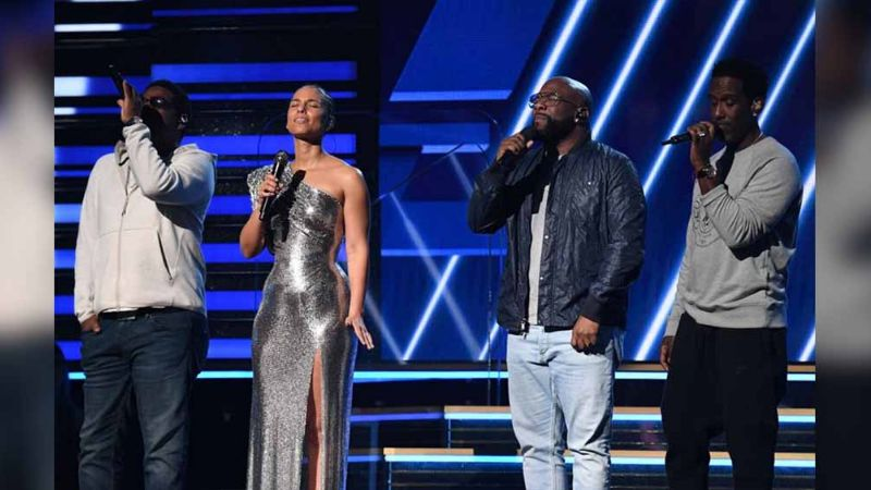 Grammys arrancan con tributo de Alicia Keys y Boyz II Men a Kobe Bryant