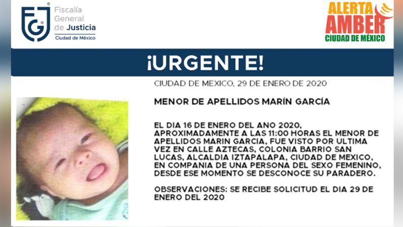 ¡Urgente! Desaparece bebé de un mes de nacido en Iztapalapa; iba con una mujer