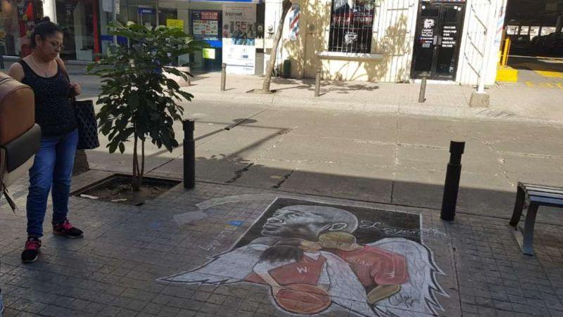 Artista local realiza su propio homenaje a Kobe Bryant en Culiacán