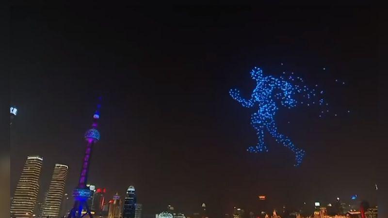 Video del show de drones en el Año Nuevo chino es totalmente falso