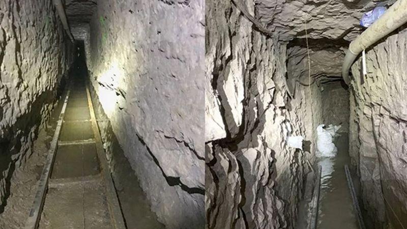 EU descubre el narcotúnel más largo encontrado en la frontera con México