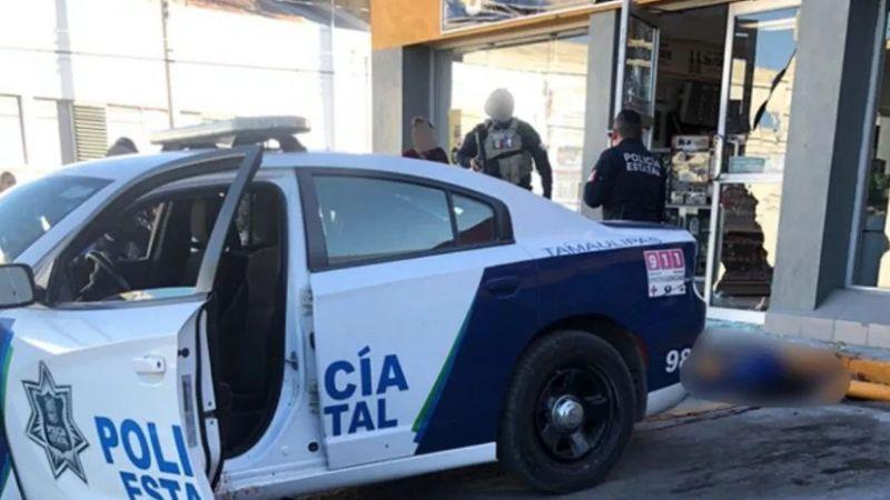 Balacera en Ciudad Victoria deja 2 policías y un civil tendidos sin vida