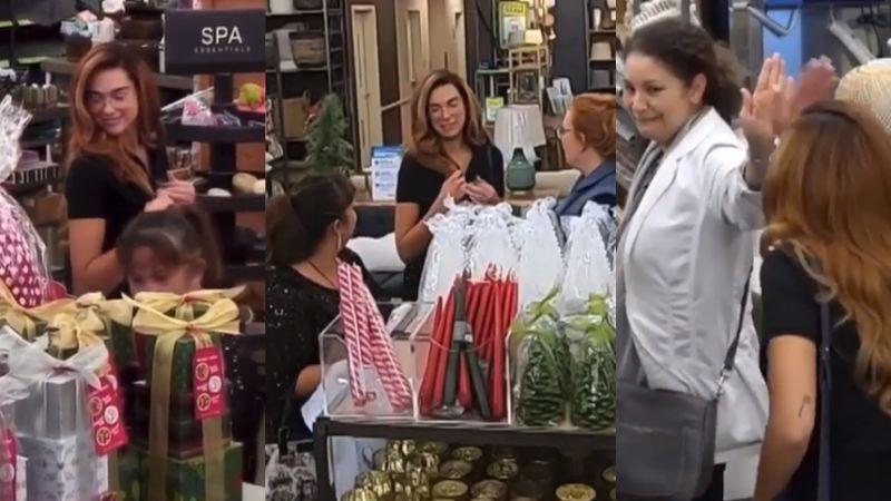 Con peluca, Dua Lipa juega bromas a clientes de tienda departamental