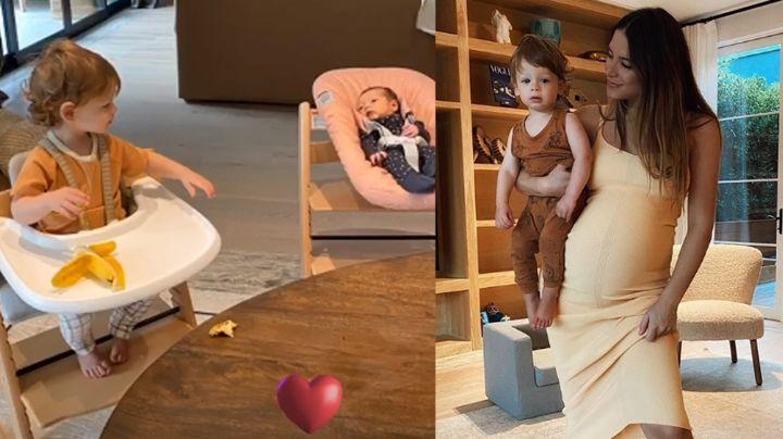 Sarah Kohan, pareja del 'Chicharito', presume la tierna relación de sus bebés