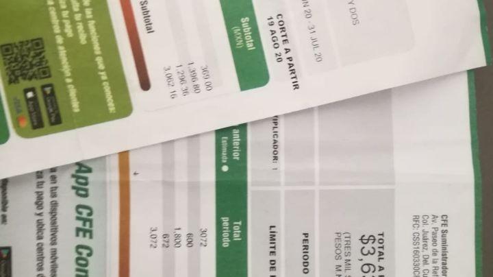 CFE aplica facturas sin piedad para los sonorenses a pesar de la contingencia sanitaria del Covid-19