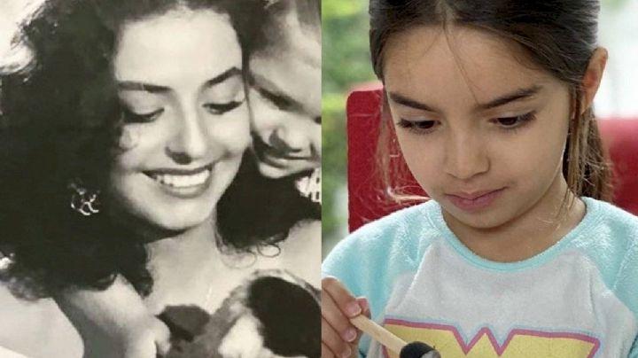 """¡Idénticas! Eugenio Derbez presume el parecido entre Aitana y su madre: """"Volvió a nacer"""""""