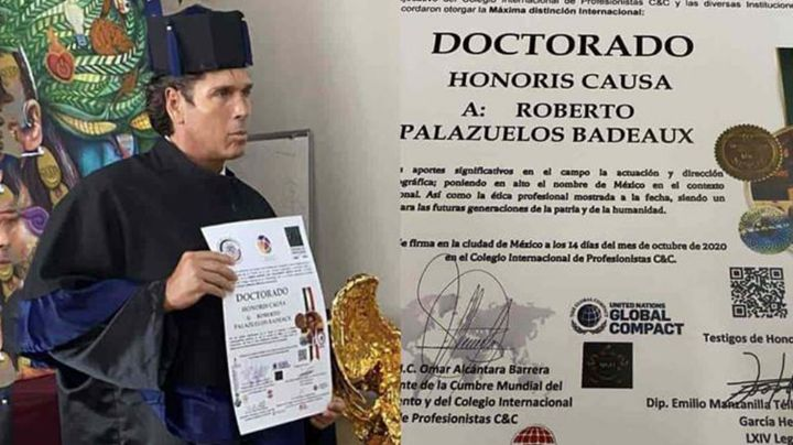 Roberto Palazuelos elimina fotos de su Doctorado Honoris Causa no sin antes responder a críticas