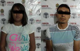Pareja, detenida por autosecuestrarse para obtener botín de 70 mil pesos