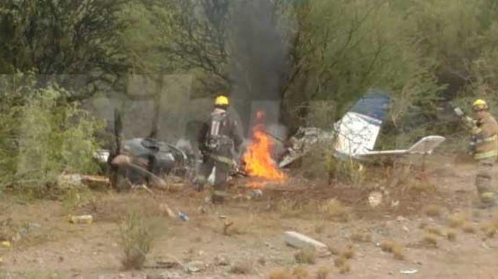 Cae avioneta en la zona de Loma de Guamúchil; hay dos personas lesionadas