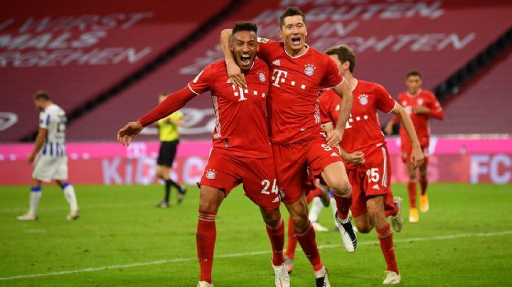 Robert Lewandowski salva al Bayern de la humillación con poker de goles