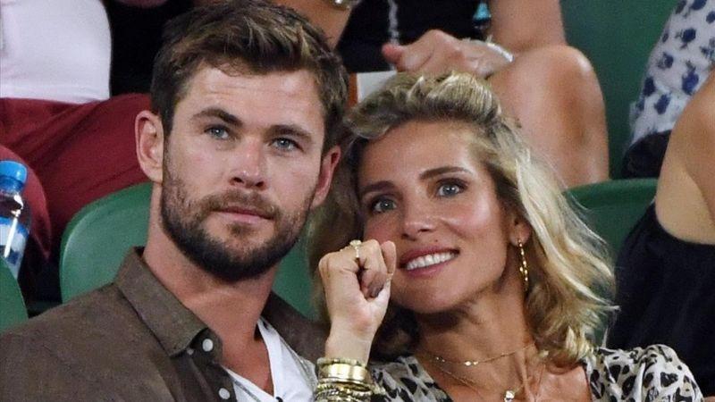 Chris Hemsworth y su esposa Elsa Pataky liberan demonios de Tasmania en Australia