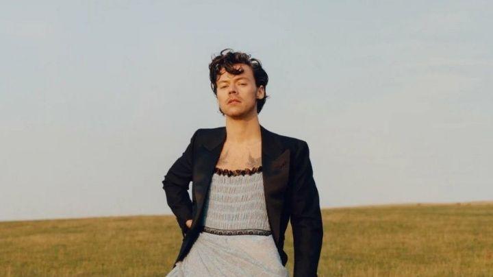 El cantante Harry Styles 'rompe' Internet tras hacer esto para la revista Vogue
