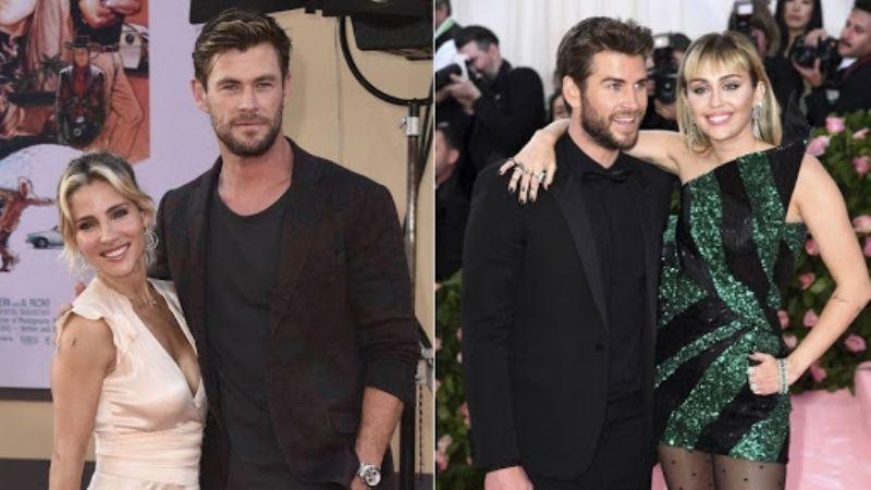 """El matrimonio de Chris Hemsworth se """"salvó"""" gracias al divorcio de su hermano Liam y Miley Cyrus"""