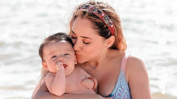 Desde la playa, Sherlyn comparte la foto más conmovedora de su hijo André
