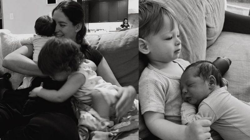 ¡Gemelos! Sarah Kohan, pareja del 'Chicharito', presume a sus bebés de recién nacidos
