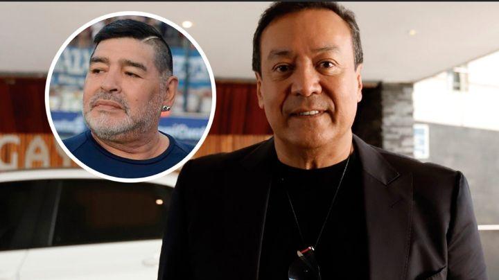 Carlos Cuevas recuerda la ocasión en que pudo conocer al futbolista, Diego Maradona