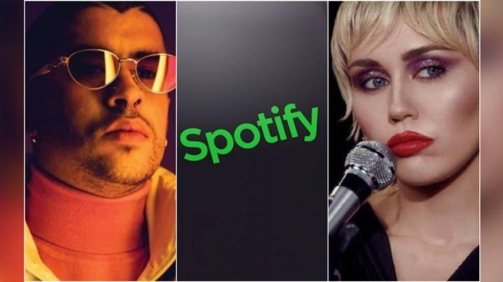Miley Cyrus y Bad Bunny provocan caída de Spotify y las redes reaccionan con memes