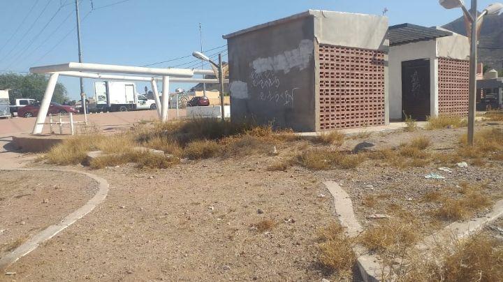 Plazas y áreas recreativas, en abandono total en fraccionamientos de Guaymas Norte