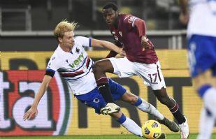 Torino y Sampdoria dividen puntos al empatar a un marcador de 2-2 en la Serie A