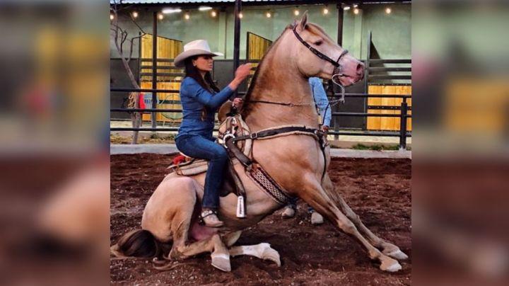 Zarelea Figueroa, hija de Joan Sebastian, cautiva las redes al hacer esto en su caballo
