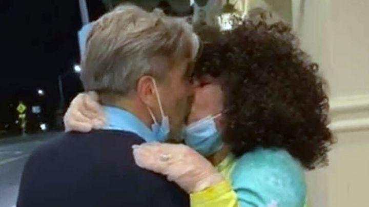 Tras meses separados, Diego Verdaguer y Amanda Miguel se reencuentran con tierno beso