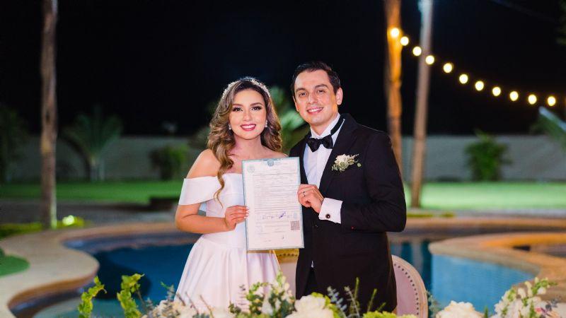 Juan Pablo Meza y Gisell Flores unen sus vidas para siempre