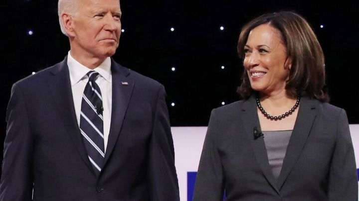 """""""Lo hicimos, lo hicimos"""": La eufórica felicitación de Kamala Harris a Joe Biden"""