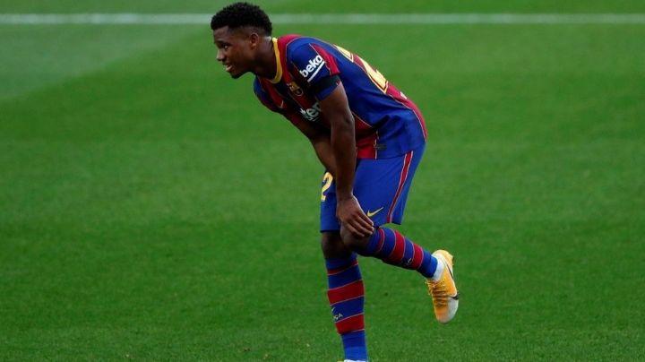 Nuevo lío para el Barcelona: Ansu Fati sufre rotura de menisco de la rodilla izquierda